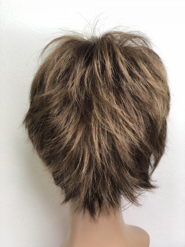 parte posterior peluca corta sintetica